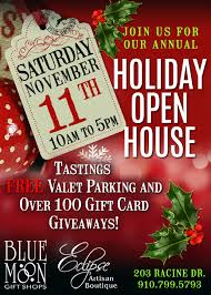christmas open house flyer holiday open house blue moon gift shops