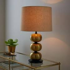 black hammered metal table lamps abacus lamp antique brass west elm o