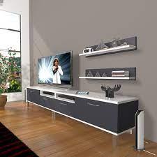 DECORAKTİV EKO 220R MDF KROM AYAKLI TV ÜNİTESİ TV SEHPASI TV UNİTESİ  18682109200810 Fiyatı ve Özellikleri - GittiGidiyor