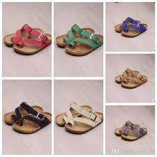 kids sandles flip flops sandals beach antiskid slippers pu leather slipper buckle sandals uni boys sandals kka1625 boys winter slippers toddler size 6