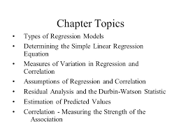 chapter topics types of regression models ppt  chapter topics types of regression models