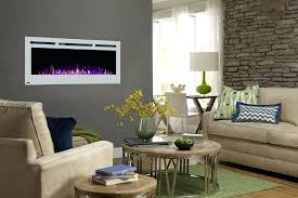 50 inch electric fireplace touchstone sideline recessed white modern living napoleon in allure wall mount azure