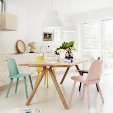 Pastel blue Scandinavian interior