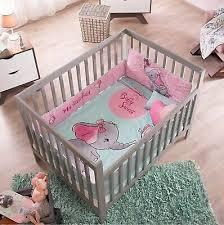 little elephant crib set baby girl gift