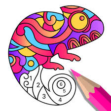 color art number coloring book app logo