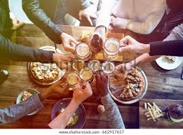 Group People Celebrate Party Food Beer Stock Photo (Edit Now) 662917657