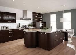 stone kitchen backsplash dark cabinets. Beautiful Dark Kitchen Dark Cabinets Light Floors Modern Pendant Cooker Hood White Drop  In Sink Beige Stone To Kitchen Backsplash