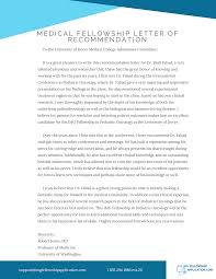 Medical Fellowship Letter Of Recommendation On Pantone