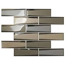 premier accents frost linear 12 in x 13 in x 8 mm glass mosaic