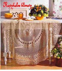 large round pineapple tablecloth