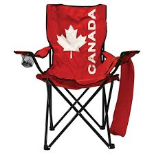 folding chair high back canada flag