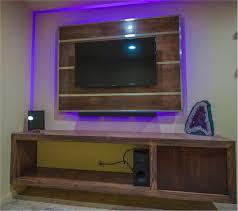 diy marble tv stand led backlight custom tv backboard floating tv stand