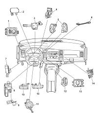 2001 dodge durango switches instrument panel diagram 00i67686