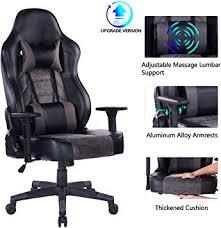 Blue <b>Whale</b> Gaming <b>Chair</b> with Massage Lumbar Pillow, <b>PC</b> ...
