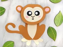 Free Craft Printables Templates Cute Monkey Craft For Kids With Free Printable Template