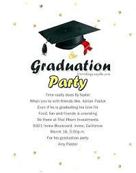 Graduation Party Announcements Template Topgamers Xyz