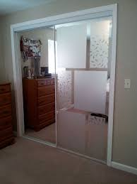 image mirrored sliding. used adhesivefree window frosting to cover up mirrored sliding closet doors image t