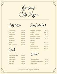 Sample Breakfast Menu Template New Customize 48 Cafe Menu Templates Online Canva