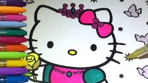 60 hello kitty printable coloring pages for kids. Princess Hello Kitty Coloring Pages Youtube