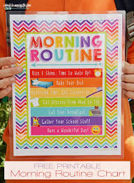 Free Morning Routine Chart Pictures Free Morning Routine Printable I Should Be Mopping The Floor