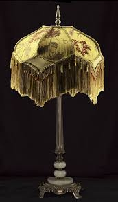 victorian lamp shade heavy embroidered