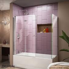 DreamLine Unidoor-X 58 in. W x 58 in. H Frameless Hinged Tub Door ...