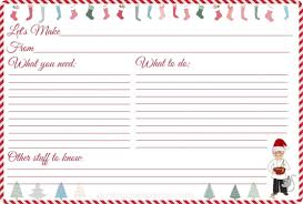 Christmas Recipe Card Recipe Card Christmas Template Crescentcollege