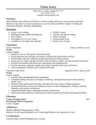 Welding Resume Examples