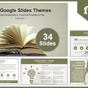 Google Slides Book Template Free Education Google Slides Presentation Powerpoint Templates