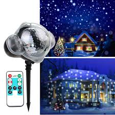 Snowfall Lights Amazon Koot Christmas Snowflake Projector Light Led Snowfall Light Rotating White Snowflake Projector Waterproof Outdoor Or Indoor With Wireless Remote For