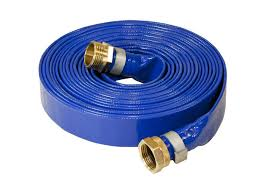 durable pvc layflat hose pipe uv resistant flexible with coupling fittings