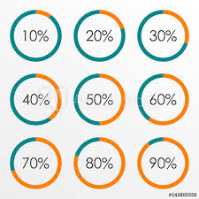 Percentage Scale Chart Circle Diagram Set With Percentage Pie Chart Infographics