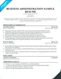 Graduate Cv Examples Recent Resume Business Administration Sample