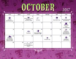 Printable October Calendar October 2017 Printable Calendar Disney Family