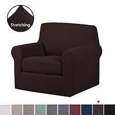Image Copridivano Hversailtex 2pieces Skid Resistance Sofa Cover Furniture Protector Jacquard Spandex Couch Covers Amazoncom Amazoncom Hversailtex 2pieces Skid Resistance Sofa Cover