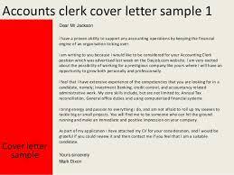 Application Letter Sample For Accounting Clerk Accounts Clerk Cover Letter General Accounting Clerk Cover Letter