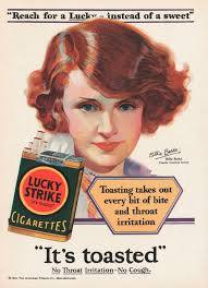 1920s showing how to get the flapper look cigarette advert 1929