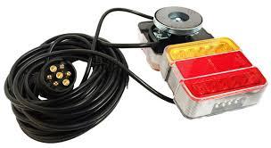 qiorange 2x weatherproof red 24 led round reflector rear tail brake stop marker light lamp truck trailer rv atv utv red in reflectors