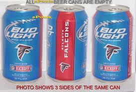 Atlanta Falcons Bud Light Cans 2012 Atlanta Falcons Football Nfl Kickoff Bud Light Beer Can