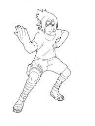 Naruto Coloring Pages Sasuke Uchiha Coloringstar