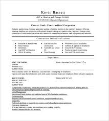 Gallery Of Carpenter Resume Examples