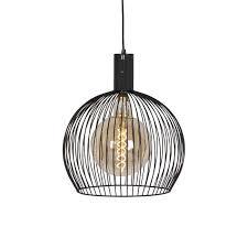 modern round pendant lamp 40cm black