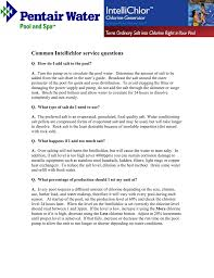 Intellichlor Ic20 Cell Light Off Common Intellichlor Service Questions Manualzz Com
