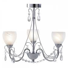 dar lighting crawford 3 light bathroom ceiling pendant light in chrome and crystal ip44