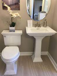 memoirs powder room pedestal sink and