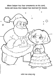 Dora Christmas Coloring Pages Wumingme