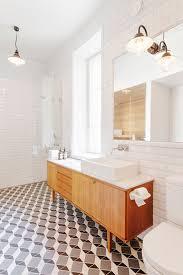 vintage mid century modern vanity with white sink sfgirlbybay
