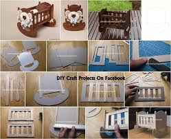 how to build miniature furniture. DIY Miniature Popsicles Baby Crib \u003d For Smaller 1:12 Scale Could Be Adaptedcks With How To Build Furniture