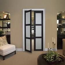 Interior Door With Frosted Glass Shop Kingstar 3 Lite Frosted Pivot Interior Door Common 30 In X