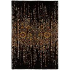 8 x 11 large contemporary black and gold area rug spring